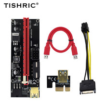 TISHRIC GPU PCI-E PCIE Riser 009s Card PCI E X16 Extender USB 3.0 to 6pin Adapter Cable Mining Riser For Video Card In stock