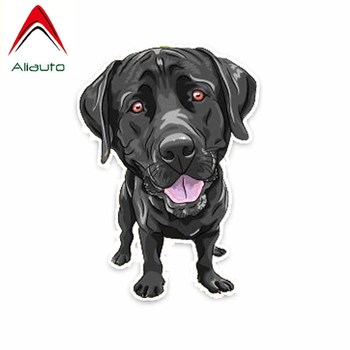 Aliauto Funny Car Sticker Black Dog Decoration Vinyl Decals Cover Scratches for Bmw E92 Toyota Hilux Audi A3 Yeti ,14cm*10cm image