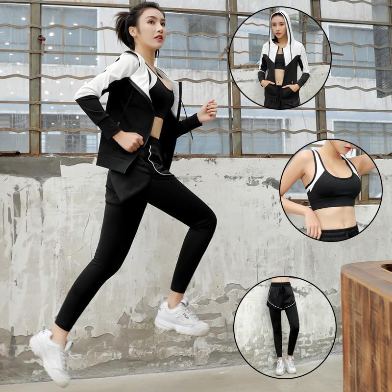 2019 nouvelle femme licorne bande dessinée impression Fitness costume porter pour femmes Gym soutien-gorge + Leggings vêtements d'entraînement