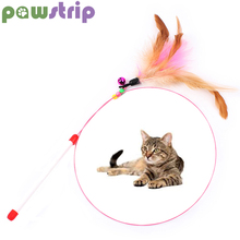 1pc Colorful Feather Cat Toy Beads Steel Wire Wand Toys For Cats Gatos Bell Pet Interactive