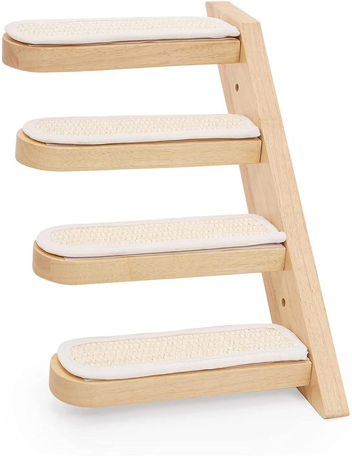 HOOPET Cat Stairs Wall Mounted For Climbing Solid Wood Cat Tree For Scratching Easy to Install Shelves For Cat Pet Furniture 3