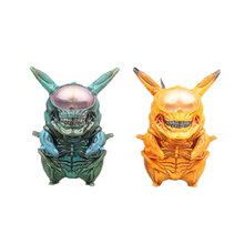 Hot selling Alien Pikachu 8.5cm PVC Funny Figure Pikachu  Warrior Aliens VS Predator AVP Cute Q GAME FRElection Model PVC Toy стоимость
