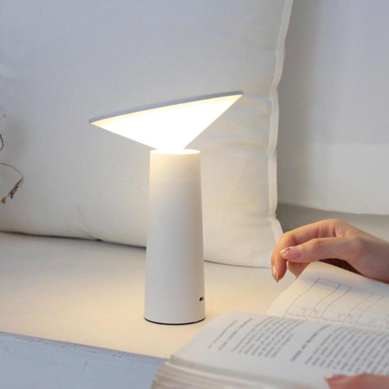 Сенсорный светодиодный настольный светильник перезаряжаемая Настольная лампа с регулируемой яркостью прикроватные ночные светильники
