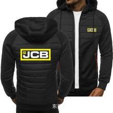 2020 novos hoodies jcb primavera outono jaqueta casual moletom de manga comprida com capuz com zíper