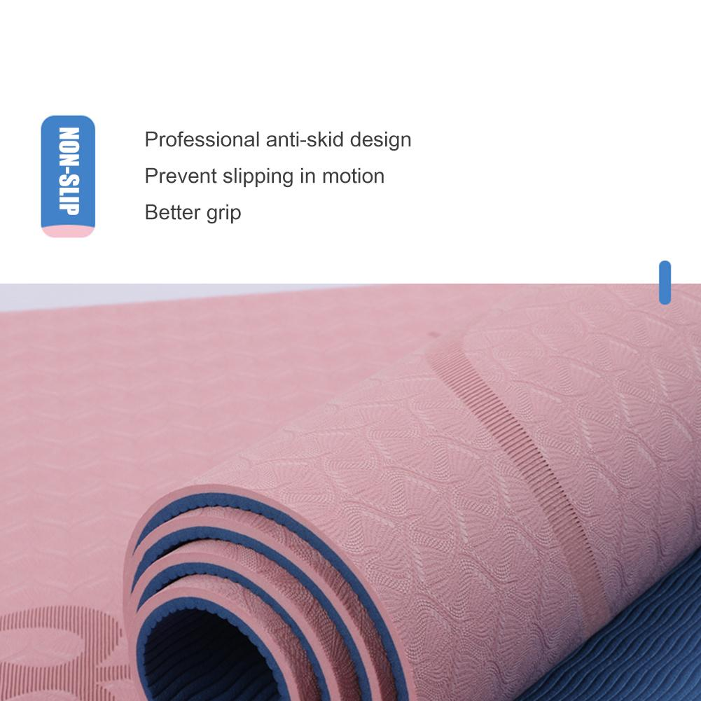 Non-Slip TPE Yoga Mat With Position Line 17