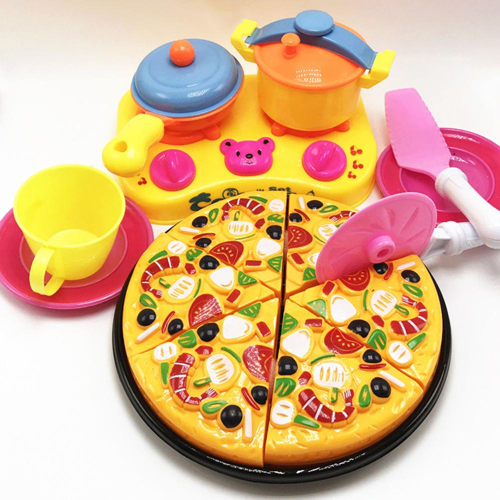 6/9Pcs Children Kids Pizza Cutting Kitchen Cooking Pretend Role Play Toy Set