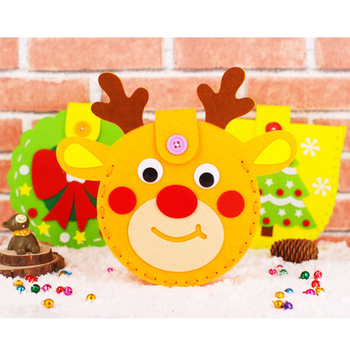 kindergarten lots arts crafts diy toys Puzzle christmas Bag crafts kids educational for children's toys girl/boy christmas gift new kindergarten lots arts crafts diy toys creative cartoon nonwoven fabric glove crafts kids finger educational for children s toys fun party diy decorations girl boy christmas gift 18903