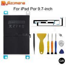 YILIZOMANA 원래 태블릿 배터리 iPad 프로 9.7 7306mAh 원래 교체 배터리 iPad 프로 9.7 A1664 + 도구