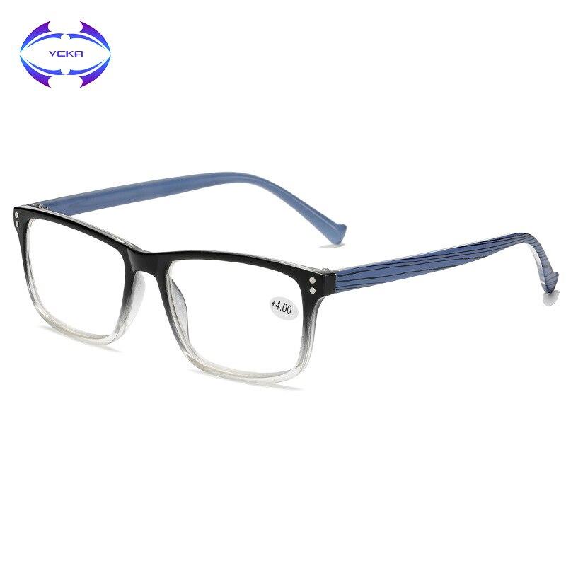 Унисекс очки для чтения VCKA, квадратные очки для пресбиопии с диоптриями, 1 + 1,5 + 2 + 2,5 + 3 + 3,5