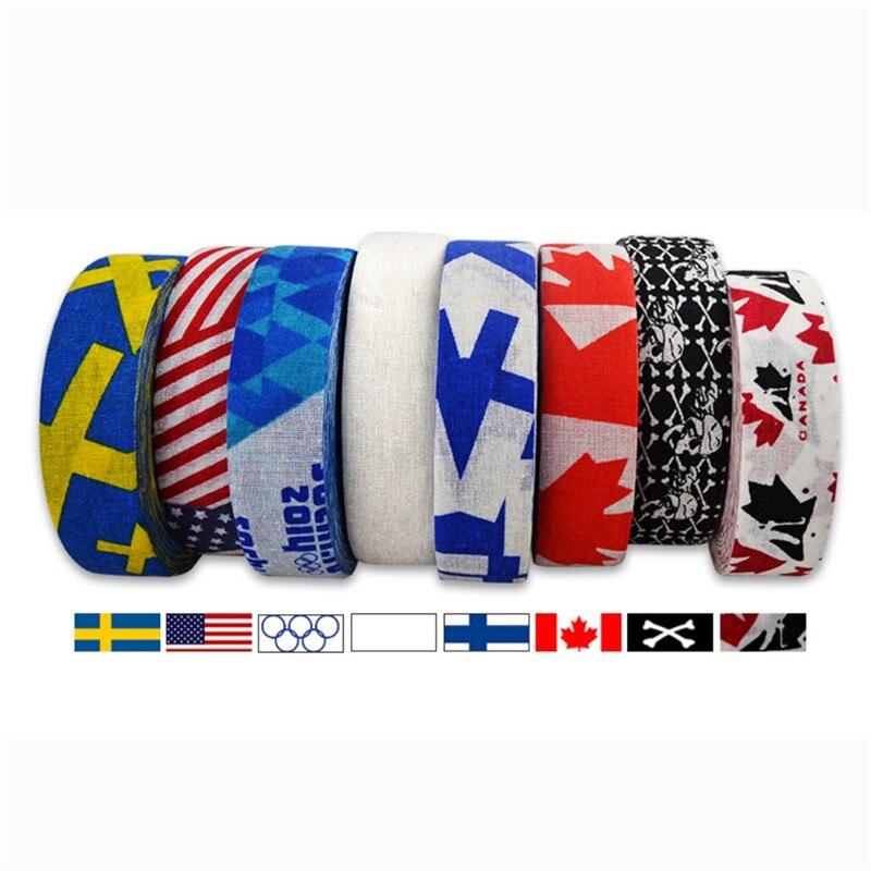 1Pc 2.5 Cm X 25 Cm Hockey Tape Sport Safety Football Volleyball Basketball Knee Pads Anti-slip Hockey Stick Tape