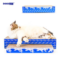 Cool Flat Concave Combination Cat Teaser Toy Cat Toy Scratching Board Cat Scratching Corrugated Cardboard Send Catnip