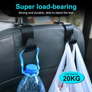 Image 3 - 2 個カーシートバックフッククリップユニバーサルヘッドレストハンガー収納ため自動製品ハンドバッグ収納車のスタイリング