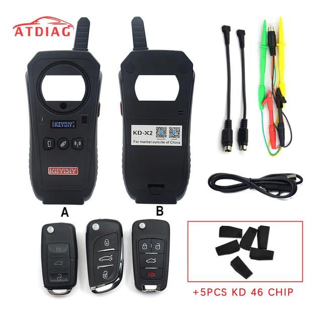 원래 KEYDIY KD X2 KD X2 원격 제조 업체 Unlocker 및 생성기 칩이있는 96bit 48 트랜스 폰더가있는 트랜스 폰더 복제 장치