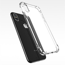Silicone clear for case iphone x xs max cover/case luxury cover back full