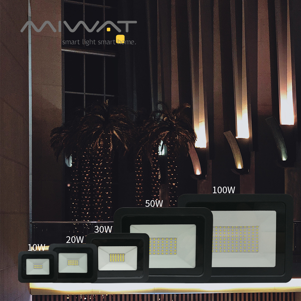 LED Floodlight 10W 20W 30W 50W 100W Reflector LED Flood Light Spotlight IP68 Waterproof 110V/220V Outdoor Landscape Lighting