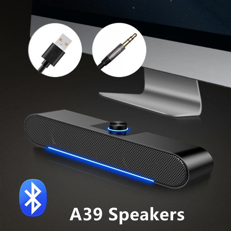 USB Bluetooth5.0 Speaker Wired Computer Speaker Bass Stereo Powerful Music Player Subwoofer For PC Laptop Aux 3.5mm