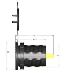 Image 2 - כפול QC3.0 USB מטען עם LED מגע על כיבוי עבור מכונית אופנוע נייד