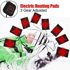 1 Set USB Electric Heated Jacket Heating Pad Outdoor Themal Warm Winter autumn Heating Vest Pads for DIY Heated Clothing