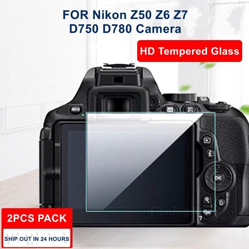 2 шт. Камера оригинал с уровнем твердости 9H Камера закаленное Стекло ЖК-дисплей Экран протектор для Nikon Z50 Z6 Z7 D750 D780 Камера