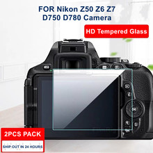 2 pçs câmera original 9h câmera de vidro temperado protetor de tela lcd para nikon z50 z6 z7 d750 d780 câmera