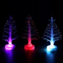 Светодиодный светильник, меняющий цвет, волоконно-оптическая лампа, рождественская елка, украшение в виде звезды, ночник для дома, свадьбы, рождественской вечеринки, праздника