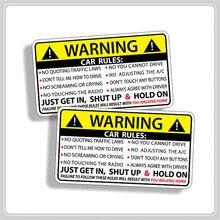 Etiqueta de la tarjeta de la etiqueta de las normas de advertencia de seguridad del coche para el asiento de McLaren UD camiones Vauxhall Ashok Leyland 675LT 570GT