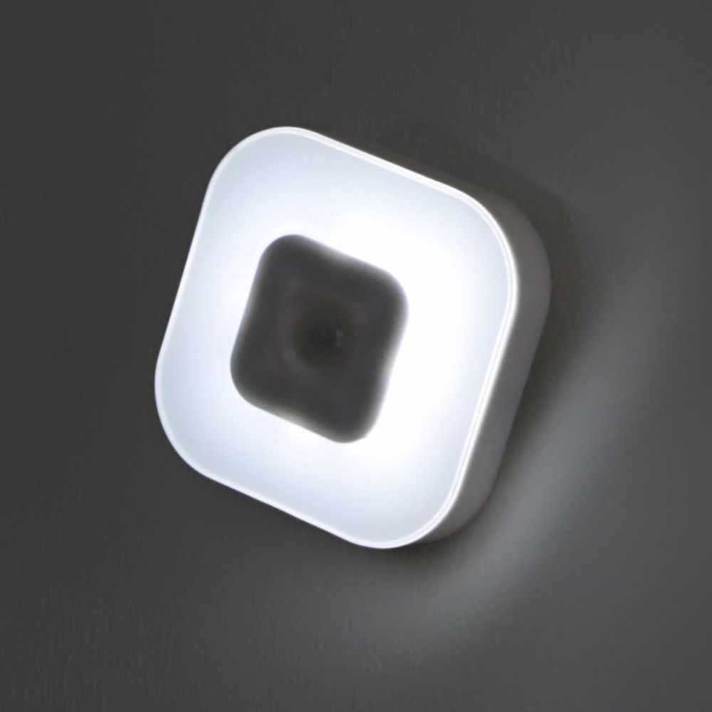 Ночной светильник, лампы, ночник с датчиком движения PIR, Интеллектуальный светодиодный индукционный светильник для человеческого тела, энергосберегающий светильник ing AAA