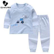 2Pcs Kids Boys Pajama Sets Cartoon Print Long Sleeve O-Neck