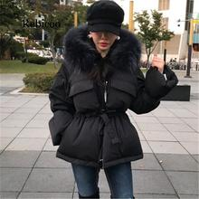 new fashion trend casual jacket cotton clothing winter loose bread clothing female thick do
