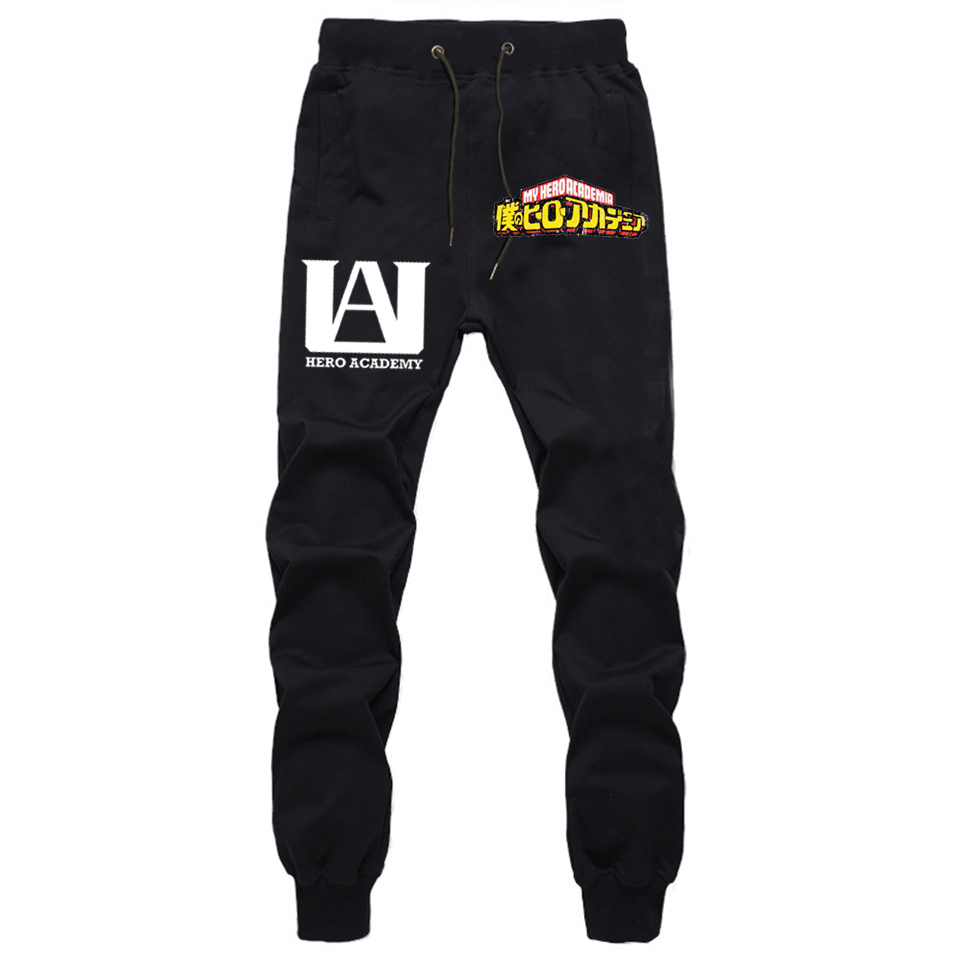 Anime My Hero Academia Pants Mens Joggers Hip Hop Streetwear Track Pants Fitness Trousers Long Pants Autumn Winter Sweatpants