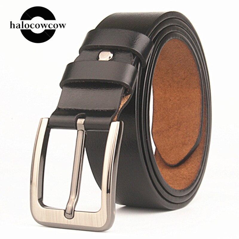 160 Cm Large Size Men's Genuine Leather Belt High Quality Pin Buckle Male Business Belt Fashion Luxury Quality Designer Belt Men