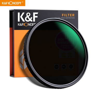 K&F Concept 55mm 58mm 62mm 67mm 77mm Fader ND Filter Neutral Density Variable Filter ND2 to ND32 for Camera Sony Lens NOX Spot