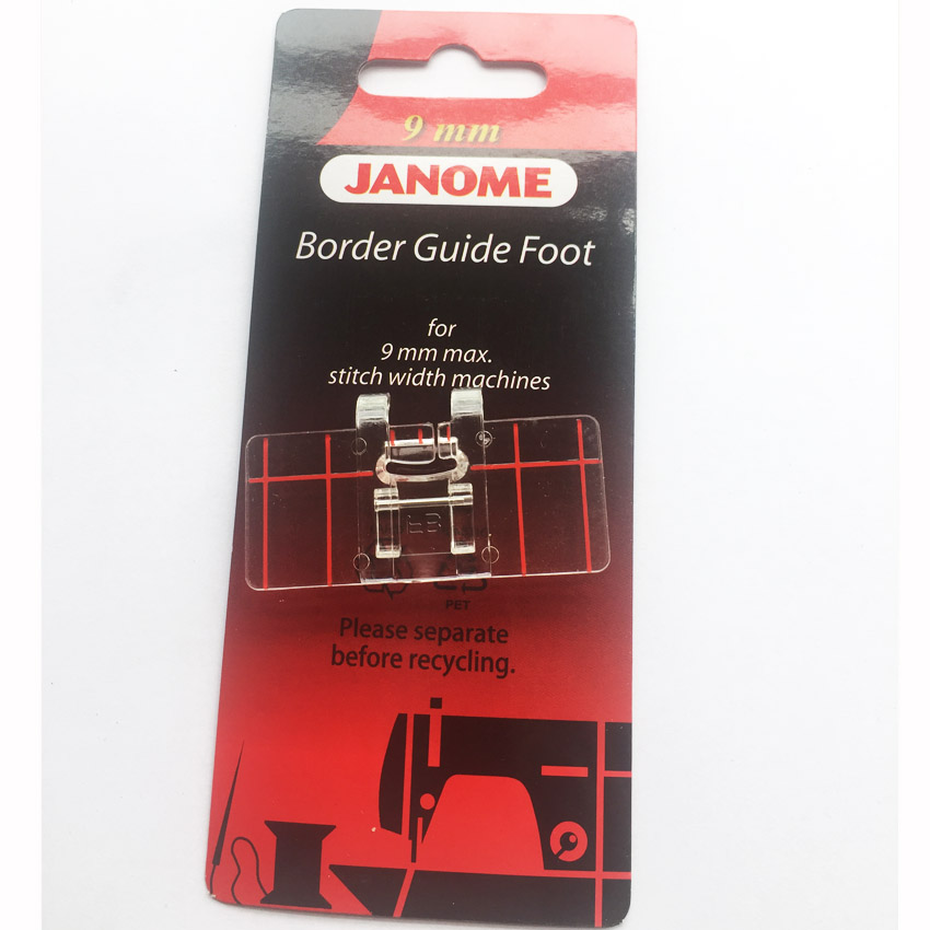 Domestic Sewing Machine Parts Presser Foot Border Guide Foot 605 For Janome Brother Juki Singer 6mm 9mm (200434003,202084000)
