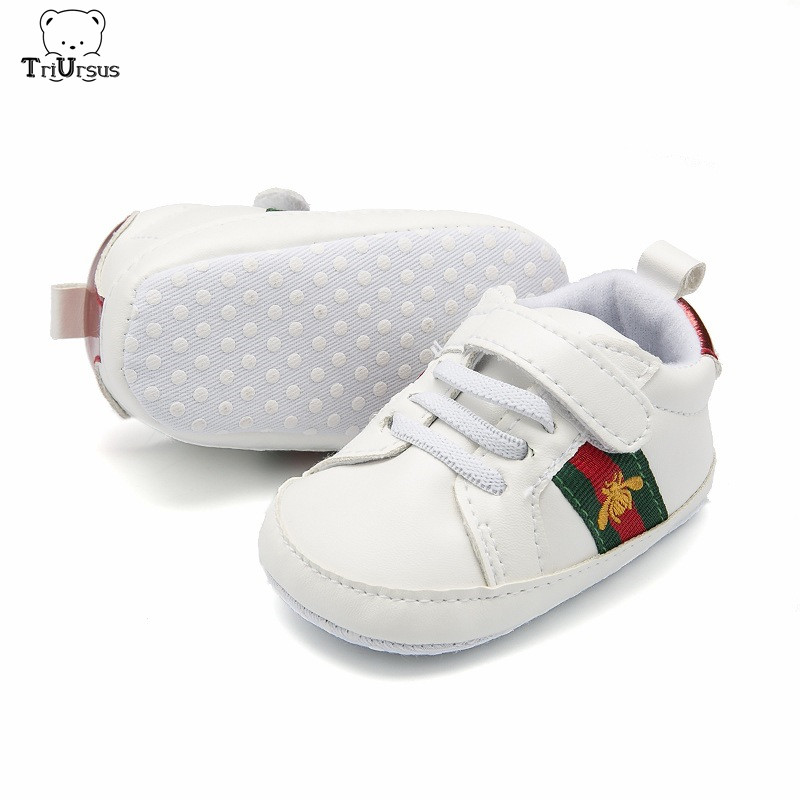 Brand Designer Little Bee Baby Boys Girls Sneakers Soft Sole White Newborn Infant Toddler Baby Sports Shoes 1 2 3 Size