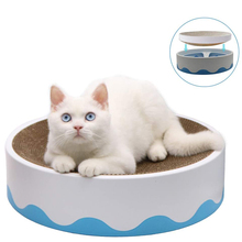 Bed Scratcher Cardboard Cat Cat-Lounge Replaceable with Catnip Corrugated Cake-Shaped