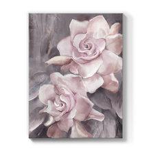 Роза настенная живопись холст розовый серый ванная комната печать
