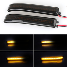 LED Side Wing Dynamic Turn Signal Light Flowing Rearview Mirror Indicator Blinker Lamp 2Packs For Ford F150 Raptor 2010-2014 1 pc lh side mirror signal light driver side turn lamp for ford f150 high configuration