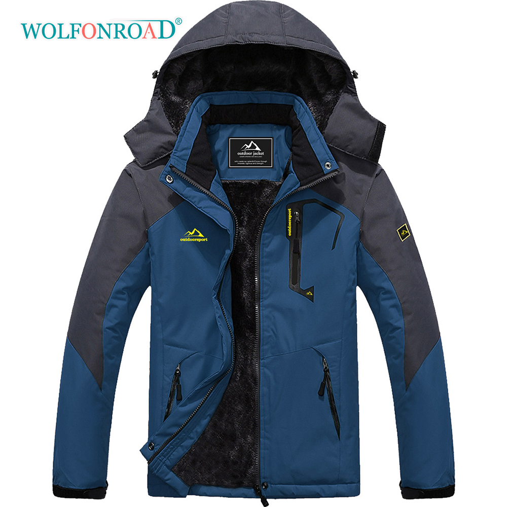 WOLFONROAD Coats Ski-Snowboarding-Jacket Parka Waterproof Warm Fleece Multi-Pockets Winter title=