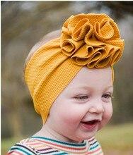 طفلة عصائب الرأس الطفل حك بلوم التفاف Headbands الطفل أغطية الرأس نفخة بلوم العمامة اليدوية الزي هيرباند