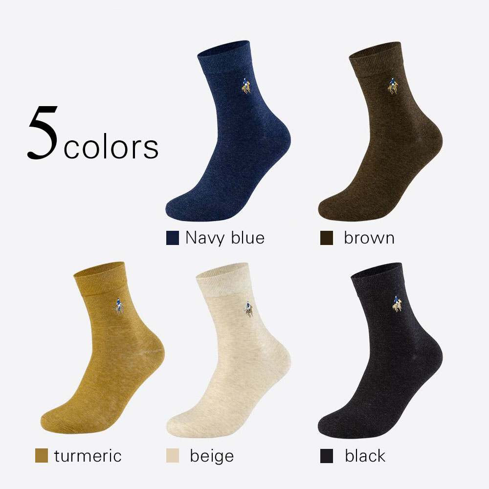 Image 2 - PIER POLO Socks Man Cotton Dress Socks Brand New Business Male Socks Men High Quality Leisure Long Socks For Gift Size 39 44-in Men's Socks from Underwear & Sleepwears