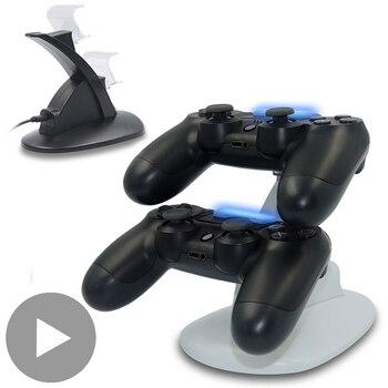 Soporte de cargador para Sony PS Playstation, mando Dualshock para PS4 Slim...