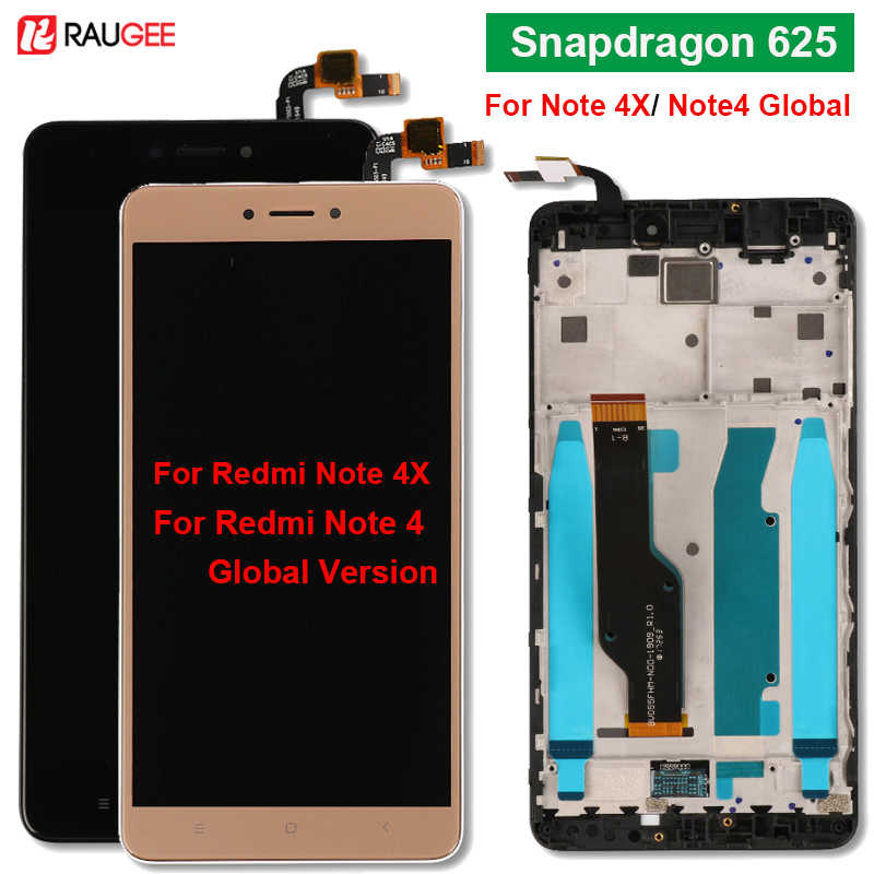 Voor Xiaomi Redmi Note 4x Display Met Frame Snapdragon 625 Touch Screen Voor Redmi Note4X Note 4 Global Versie Lcd display