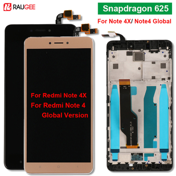 For xiaomi Redmi note 4x Display With Frame Snapdragon 625 Touch Screen For Redmi Note4X Note 4 Global Version LCD Display