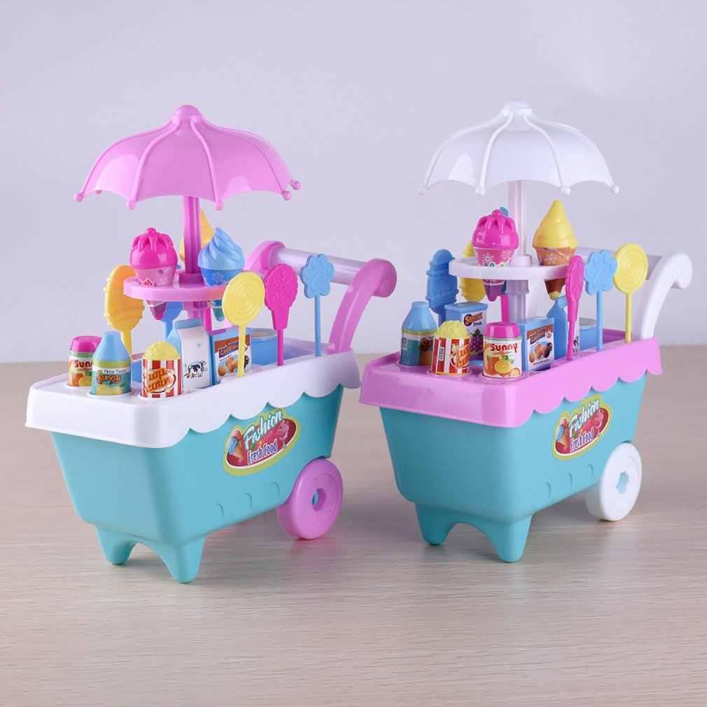 Belajar Awal Pencerahan Pengalaman Belanja Le Chao Anak-anak Simulasi Permen Es Krim Keranjang Gadis Puzzle Rumah Set Mainan