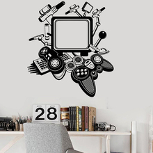 PS4 Game Controller Joysticks Wall Sticker Xbox Gamer Electronic Contest Cool Decor Boys Bedroom Decoration DIY Vinyl Decal Y27