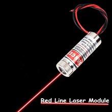 Лазер Красный линейный лазерный модуль 5 мВт 650нм фокусировка Регулируемая лазерная головка 5 в промышленного класса DIY для нанесения лазерной гравировки модуль питания для мини ПК