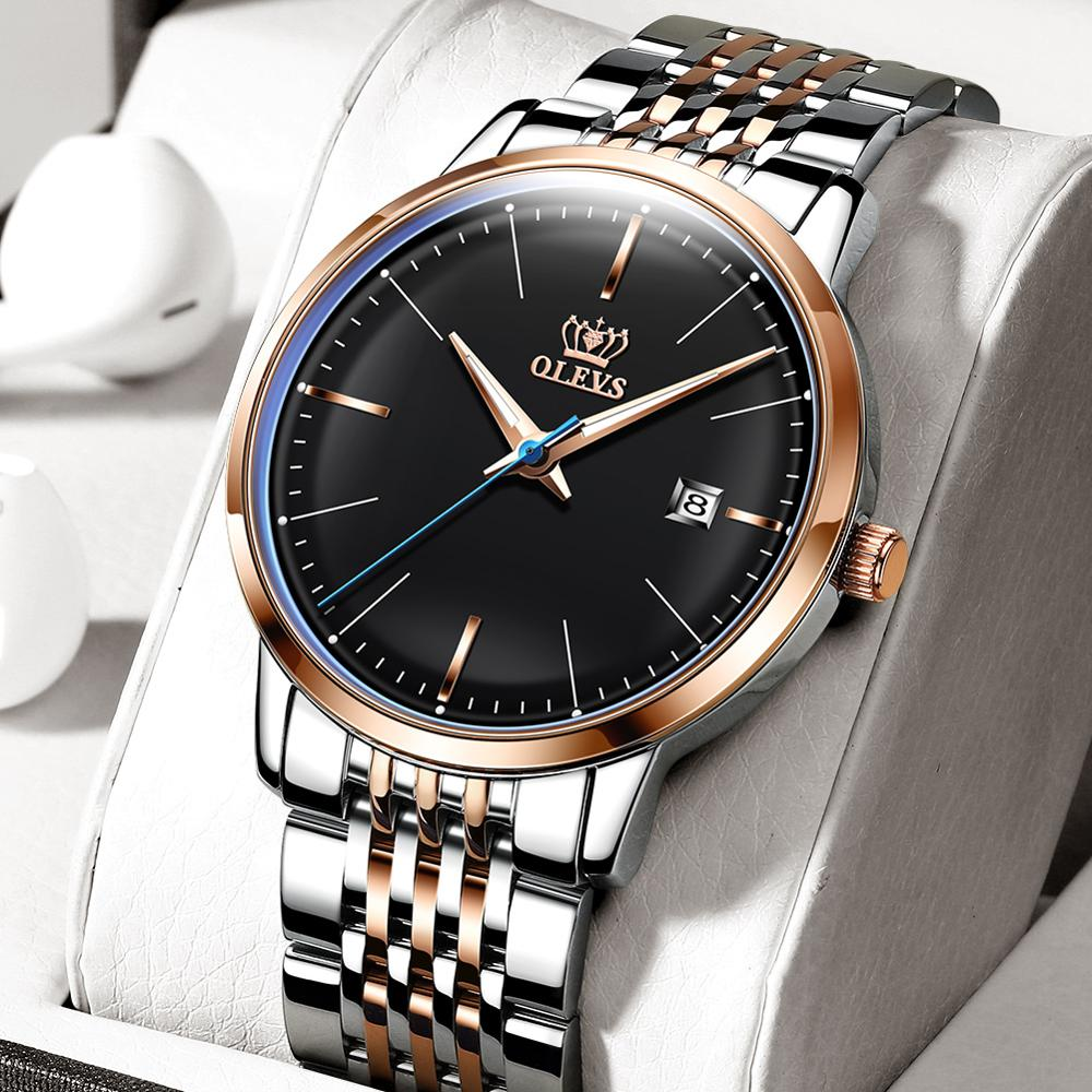Hot sale OLEVS Mechanical Watch Men Steeldive Automatic Watches For Men New Luxury Luminous Watch Waterproof Male Automatic Wristwatch