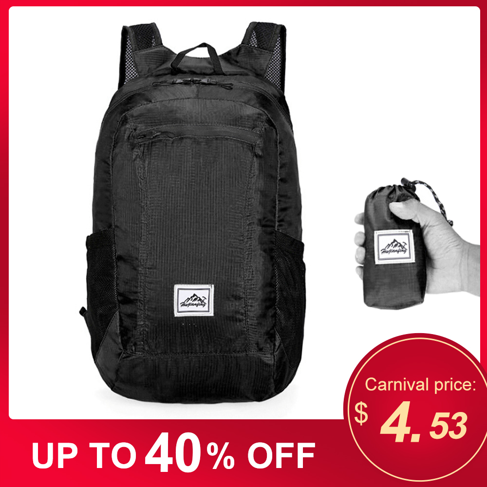 Bolsa para deportes al aire libre a prueba de agua mochila ligera portátil plegable para gimnasio mochila bolsa plegable al aire libre viaje senderismo