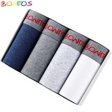 Bộ 4 Quần Lót Quần Lót Nam Nam Quần Lót Boxer Nam Underware Calecon Quần Lót Cotton Trong Suốt Quần Lót Boxer Dài