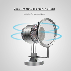 Image 5 - BM 8000 kondenser kablolu mikrofon kiti 3.5MM kayıt stüdyosu mikrofon Pop filtresi ile KTV Karaoke bilgisayar yayın